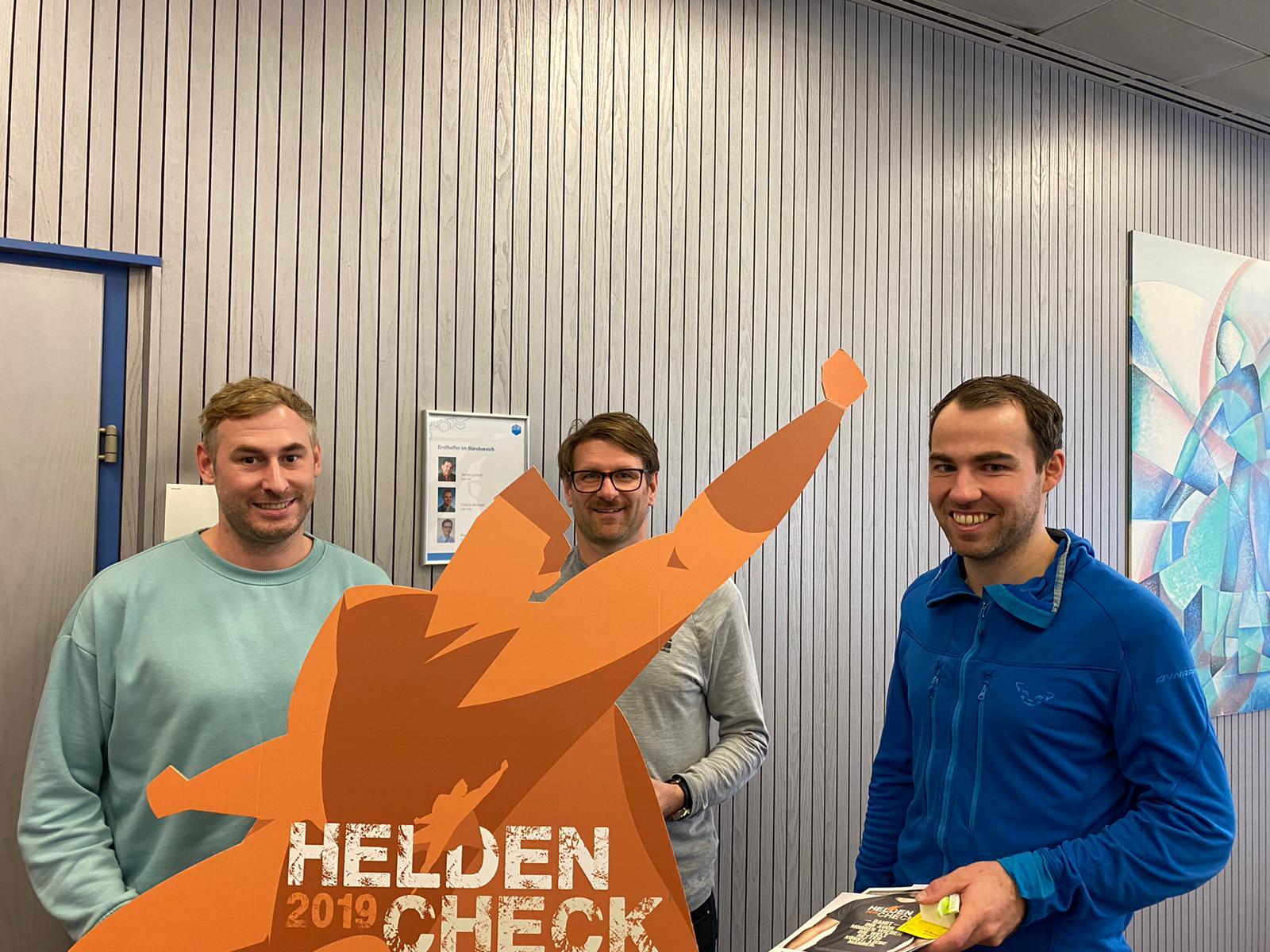 Mitarbeiter von Maco beim Heldencheck 2019