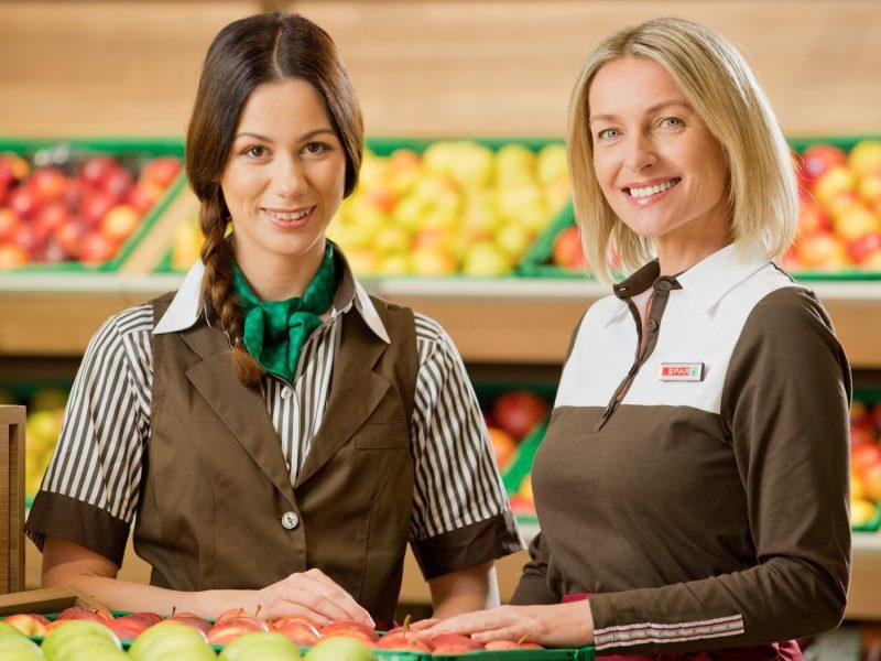 Gesunde Mitarbeiter bei Spar